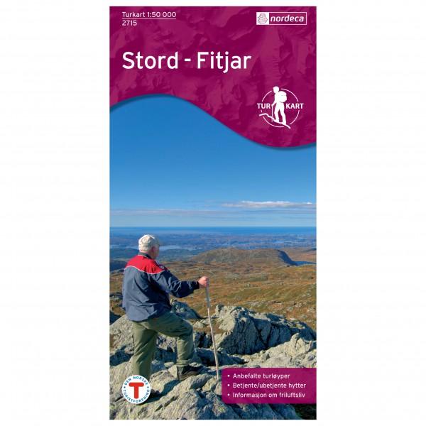 Nordeca - Wander-Outdoorkarte: Stord Fitjar 1/50 - Vandrekort