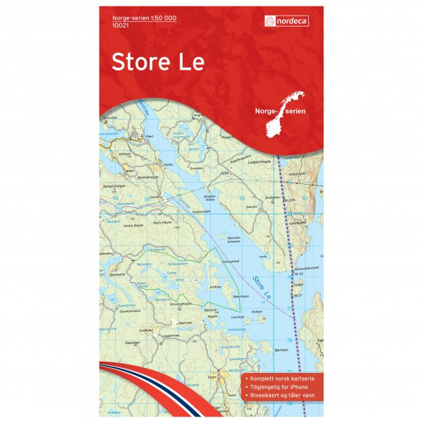 Nordeca - Wander-Outdoorkarte: Store Le 1/50 - Hiking map