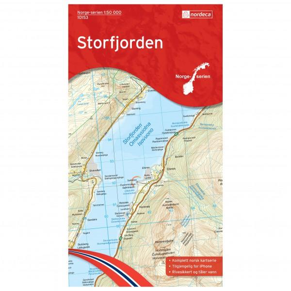 Nordeca - Wander-Outdoorkarte: Storfjorden 1/50 - Turkart