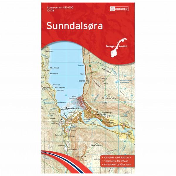 Nordeca - Wander-Outdoorkarte: Sunndalsøra 1/50 - Hiking map