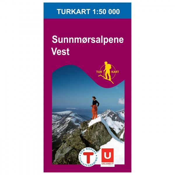 Nordeca - Wander-Outdoorkarte: Sunnmørsalpene Vest 1/50 - Vandringskartor