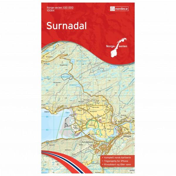 Nordeca - Wander-Outdoorkarte: Surnadal 1/50 - Turkart