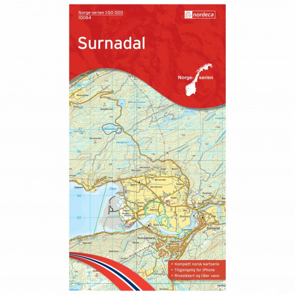 Nordeca - Wander-Outdoorkarte: Surnadal 1/50 - Vandrekort