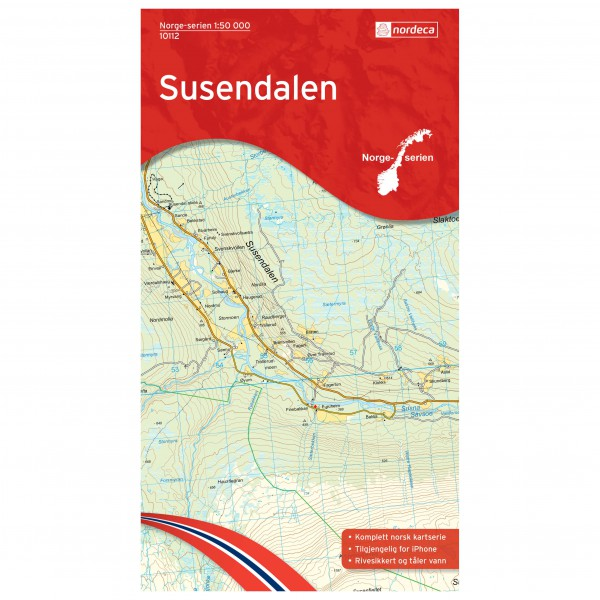 Nordeca - Wander-Outdoorkarte: Susendalen 1/50 - Hiking map