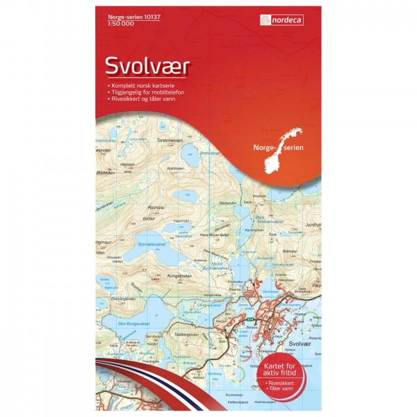 Nordeca - Wander-Outdoorkarte: Svolvær 1/50 - Hiking map