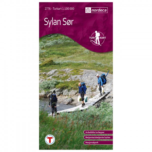 Nordeca - Wander-Outdoorkarte: Sylan Sør 1/100 - Vaelluskartat