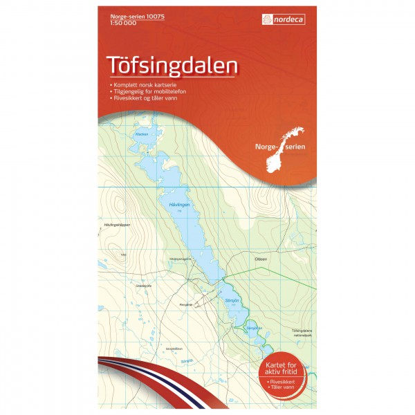 Nordeca - Wander-Outdoorkarte: Töfsingdalen 1/50 - Hiking map