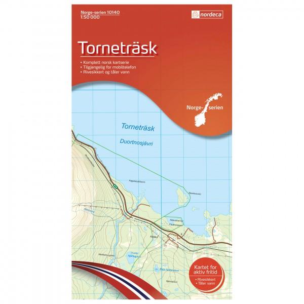 Nordeca - Wander-Outdoorkarte: Torneträsk 1/50 - Vandrekort