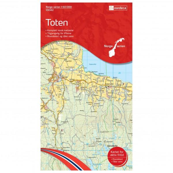 Nordeca - Wander-Outdoorkarte: Toten 1/50 - Wandelkaart
