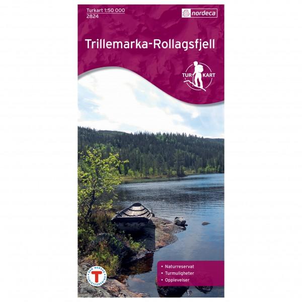 Nordeca - Wander-Outdoorkarte: Trillemarka-Rollagsfjell 1/50 - Vandrekort