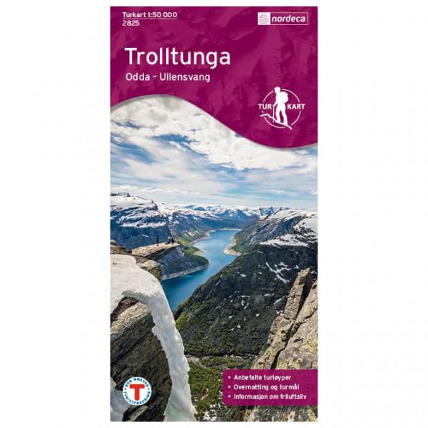 Nordeca - Outdoorkarte: Trolltunga - Odda - Wandelkaarten