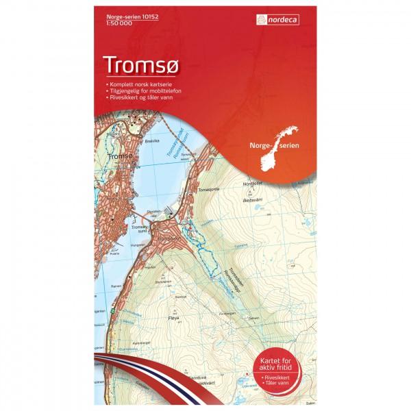 Nordeca - Wander-Outdoorkarte: Tromsø 1/50 - Mapa de senderos