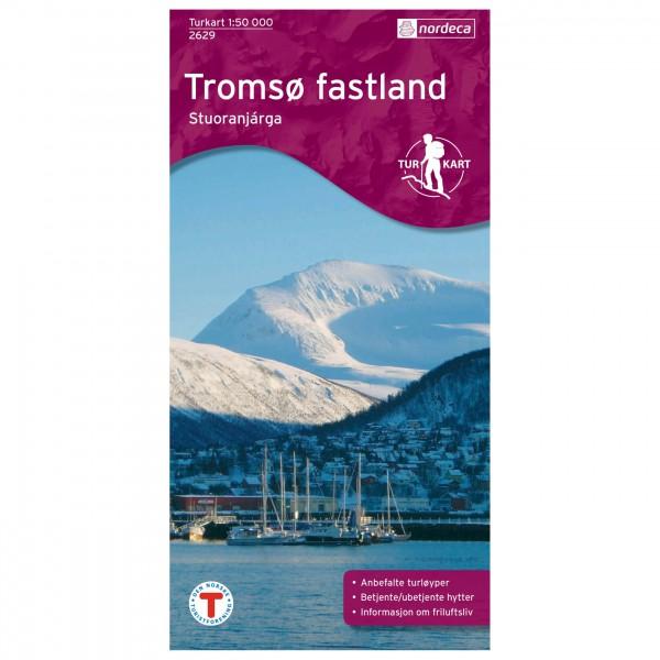 Nordeca - Wander-Outdoorkarte: Tromsø Fastland 1/50 - Vaelluskartat