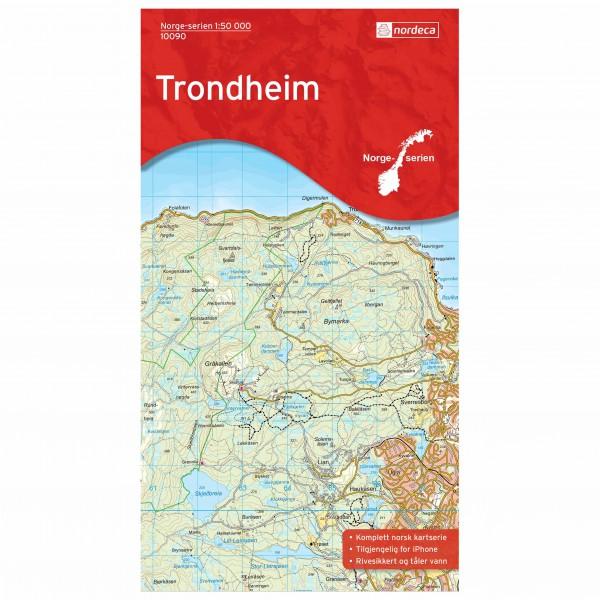 Nordeca - Wander-Outdoorkarte: Trondheim 1/50 - Wandelkaart