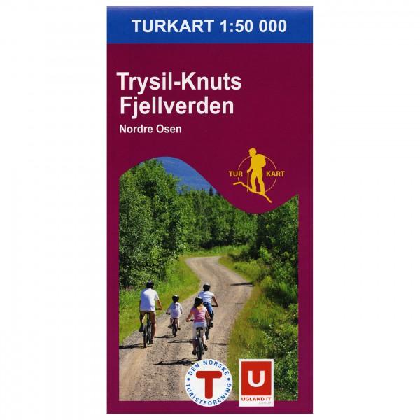 Nordeca - Wander-Outdoorkarte: Trysil-Knuts Fjellverden 1/50 - Mapa de senderos