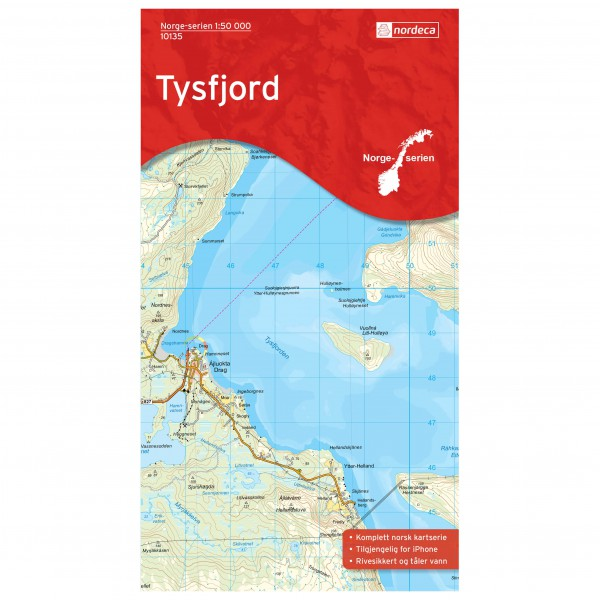 Nordeca - Wander-Outdoorkarte: Tysfjord 1/50 - Hiking map