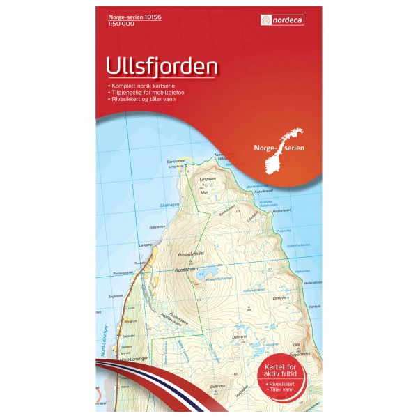 Nordeca - Wander-Outdoorkarte: Ullsfjorden 1/50 - Vandringskartor