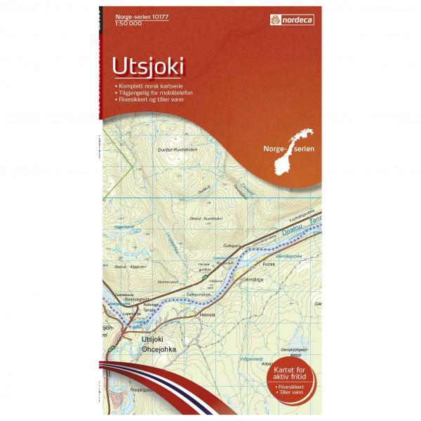 Nordeca - Wander-Outdoorkarte: Utsjoki 1/50 - Vaelluskartat