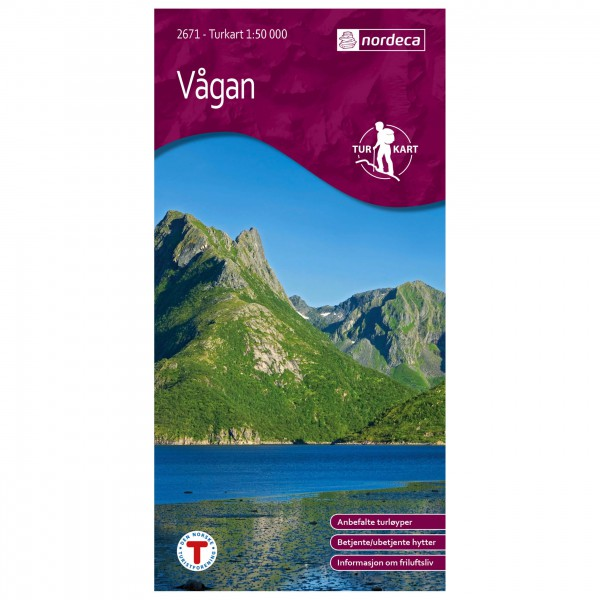 Nordeca - Wander-Outdoorkarte: Vågan 1/50 - Hiking map