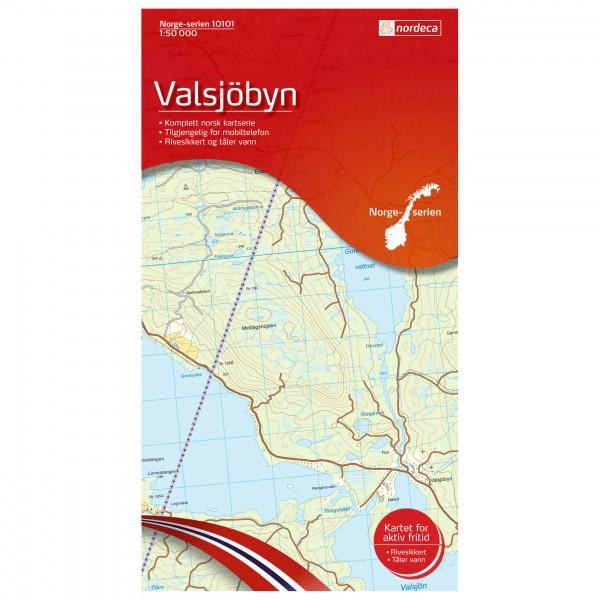 Nordeca - Wander-Outdoorkarte: Valsjöbyn 1/50 - Vaelluskartat
