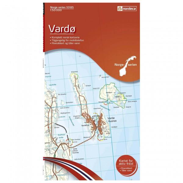 Nordeca - Wander-Outdoorkarte: Vardø 1/50 - Vaelluskartat