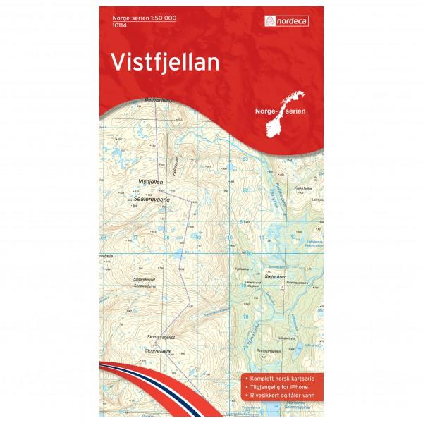 Nordeca - Wander-Outdoorkarte: Vistfjellan 1/50