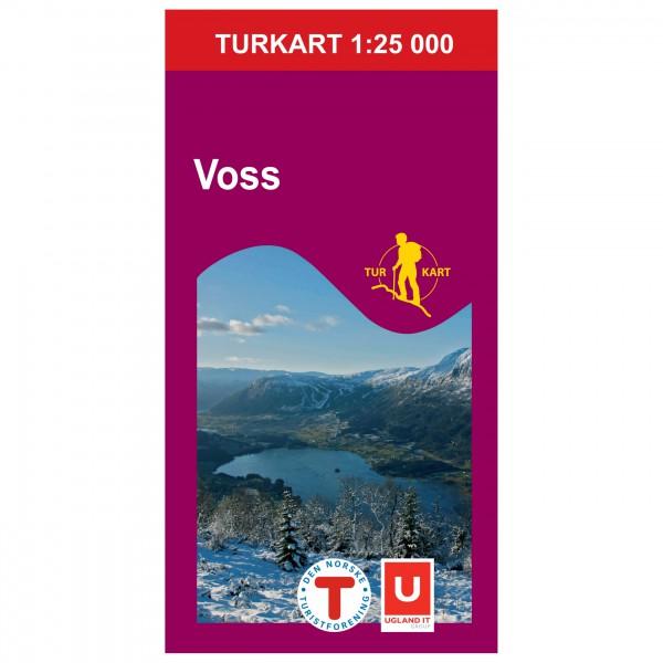 Nordeca - Wander-Outdoorkarte: Voss 25 1/25 - Wandelkaarten