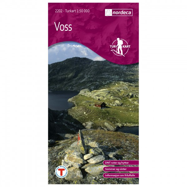 Nordeca - Wander-Outdoorkarte: Voss 50 1/50 - Vandringskartor