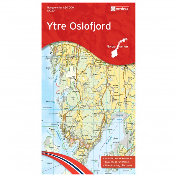 Nordeca - Wander-Outdoorkarte: Ytre Oslofjord 1/50 - Hiking map