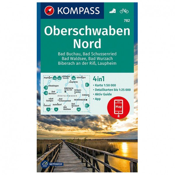 Kompass - Oberschwaben Nord - Wanderkarte