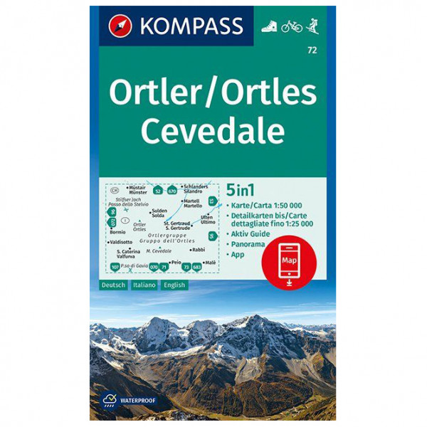 Kompass - Ortler/Ortles, Cevedale - Wanderkarte