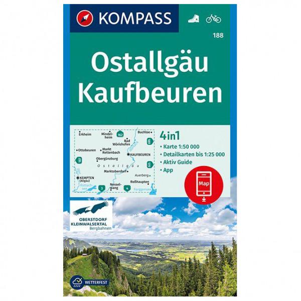 Kompass - Ostallgäu, Kaufbeuren - Vandringskartor