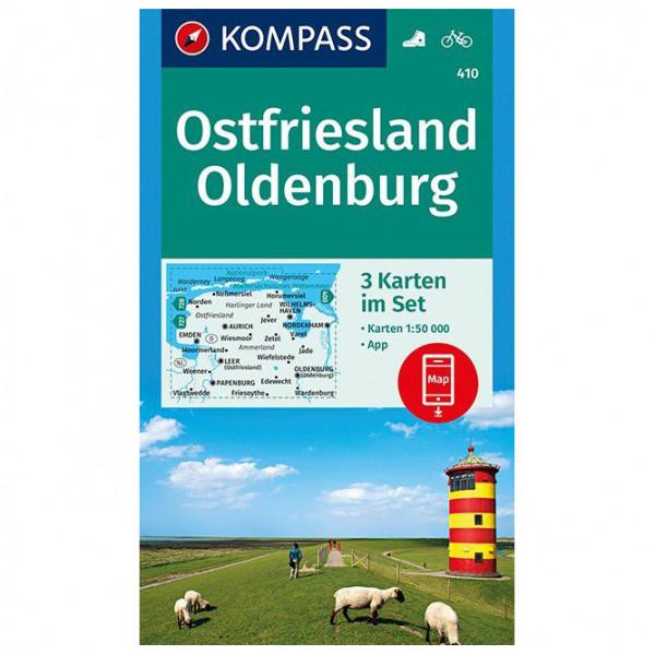 Kompass - Ostfriesland, Oldenburg - Vandrekort