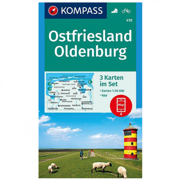 Kompass - Ostfriesland, Oldenburg - Wanderkarte