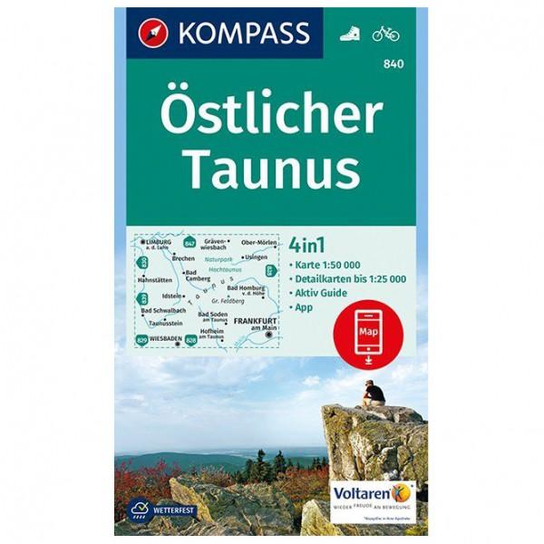 Kompass - Östlicher Taunus - Mapa de senderos
