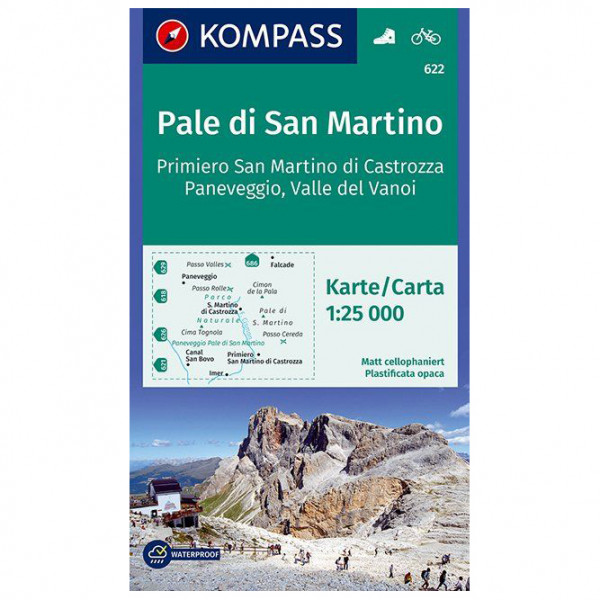 Kompass - Pale di San Martino, Primiero - Wandelkaart