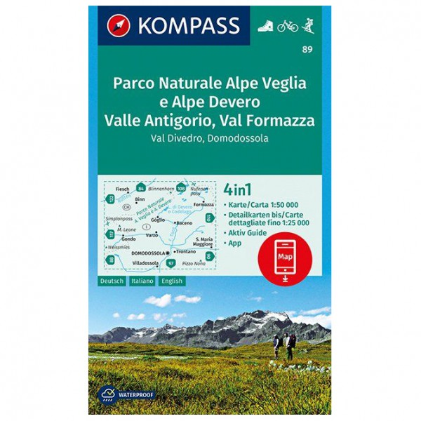 Kompass - Parco Naturale Alpe Veglia e Alpe Devero - Turkart