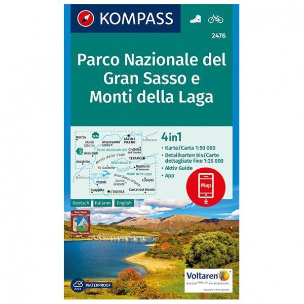 Kompass - Parco Nazionale del Gran Sasso e Monti della Laga - Hiking map
