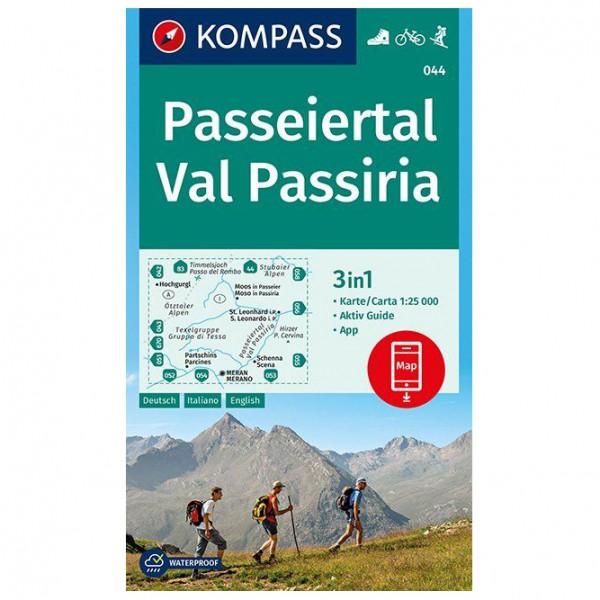 Kompass - Passeiertal, Val Passiria - Mapa de senderos