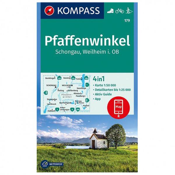 Kompass - Pfaffenwinkel, Schongau, Weilheim i. OB - Vandrekort