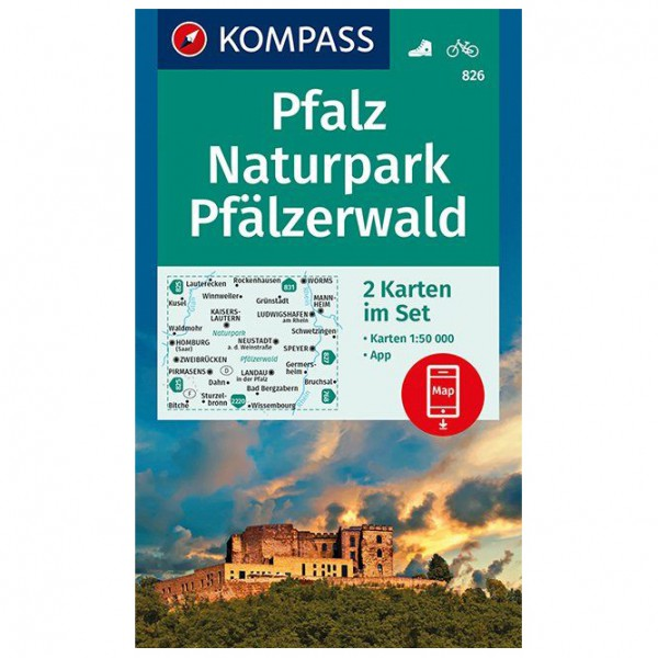 Kompass - Pfalz, Naturpark Pfälzerwald - Vandringskartor
