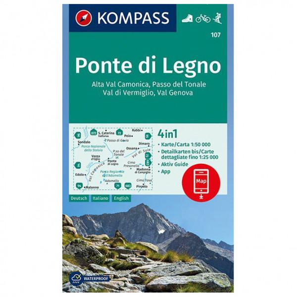 Kompass - Ponte di Legno - Vandrekort