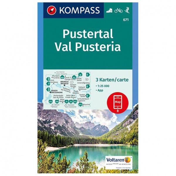 Kompass - Pustertal, Val Pusteria - Wandelkaarten