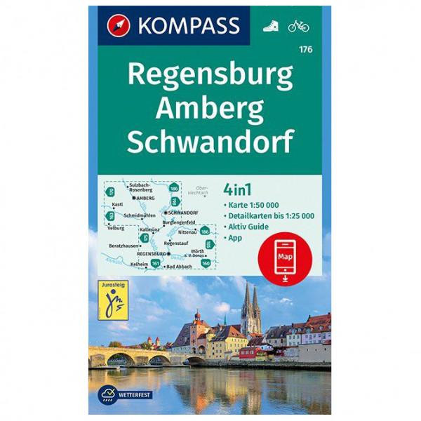 Kompass - Regensburg, Amberg, Schwandorf - Vandringskartor