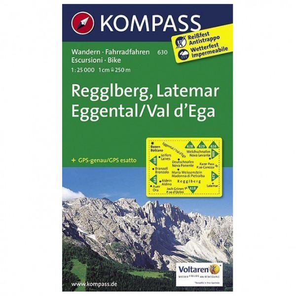 Kompass - Regglberg, Latemar, Eggental, Val d'Ega - Carte de randonnée