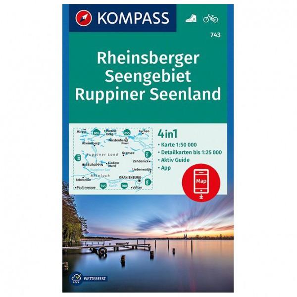 Kompass - Rheinsberger Seengebiet, Ruppiner Seenland - Hiking map