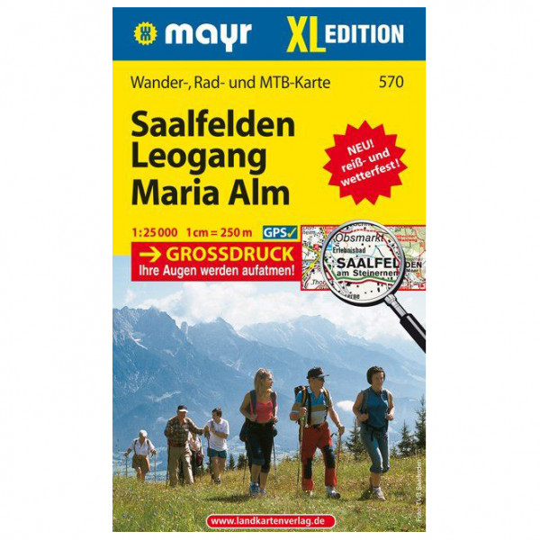 Kompass - Saalfelden - Leogang - Maria Alm XL - Vaelluskartat