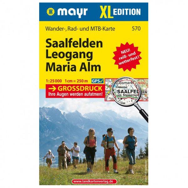 Kompass - Saalfelden - Leogang - Maria Alm XL - Wandelkaart