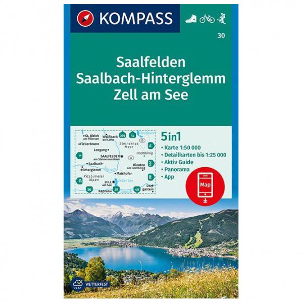Kompass - Saalfelden, Saalbach-Hinterglemm, Zell am See - Vaelluskartat