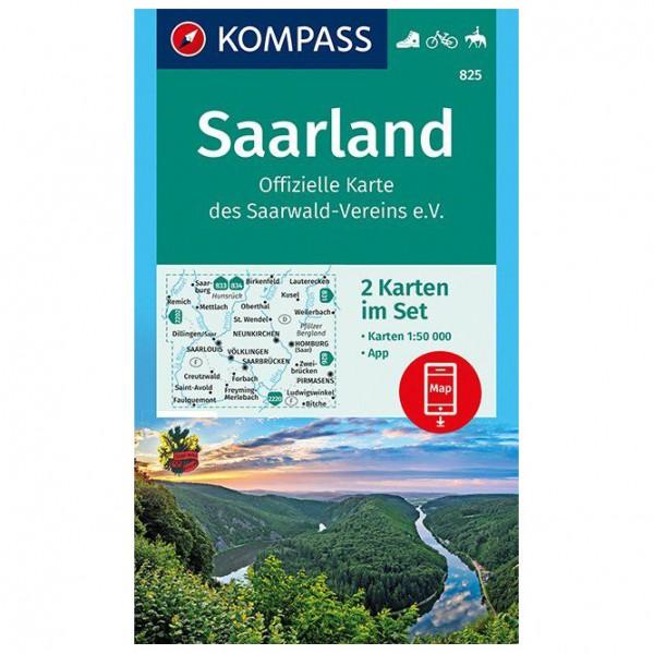 Kompass - Saarland, Offizielle Karte des Saarwald-Vereins - Vandringskartor